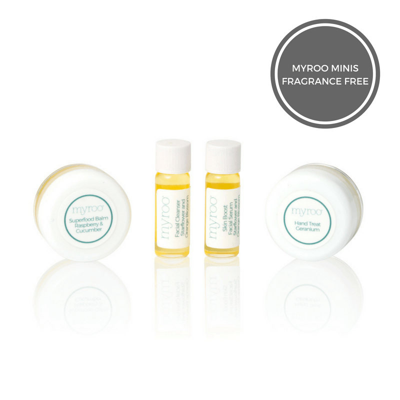 Myroo Mini Sample Trial Size Skincare Set Fragrance Free