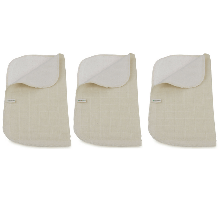 Organic Double Sided Muslin Cloth - 3 Pack