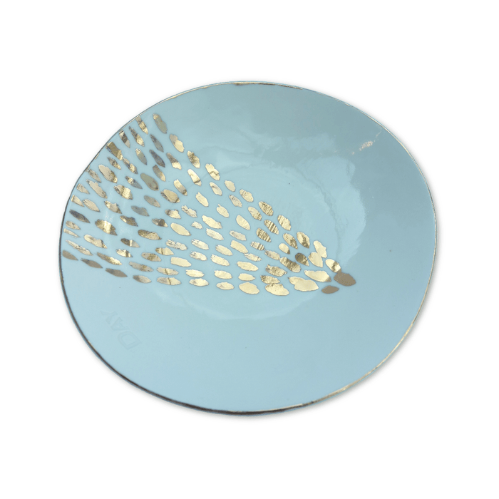 Porcelain Dish - White + Gold