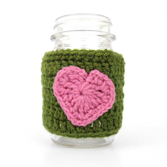 Mason Jar Koozie (Pink and Green)