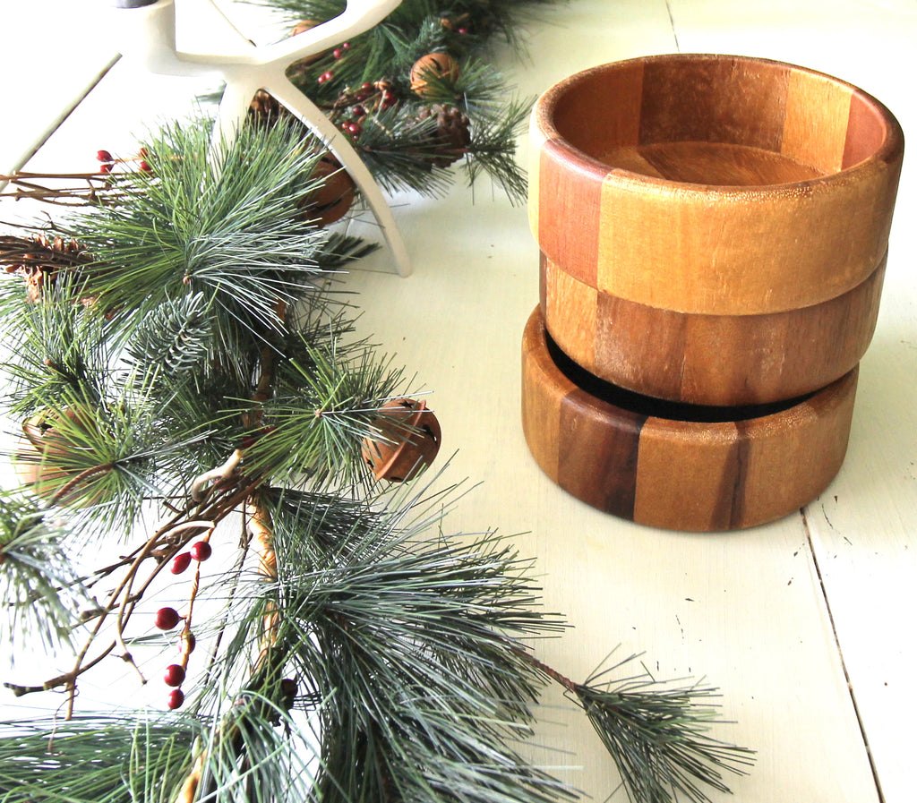 Secondhand Wooden Bowls - Set of 3