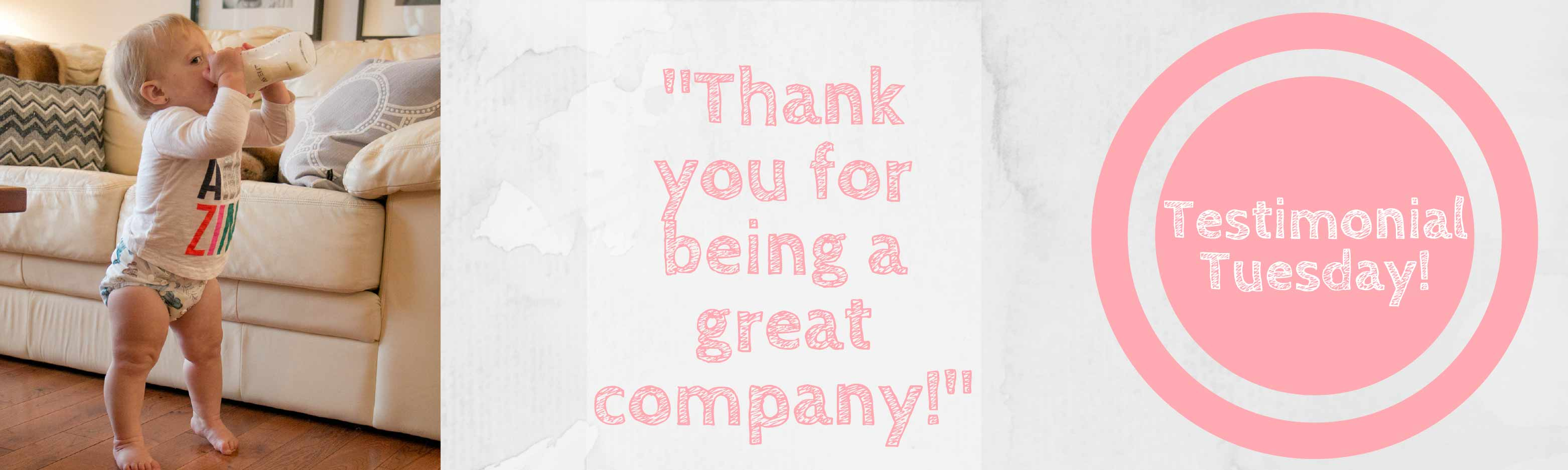 Mother ease Testimonial Tuesday Banner - Great Company