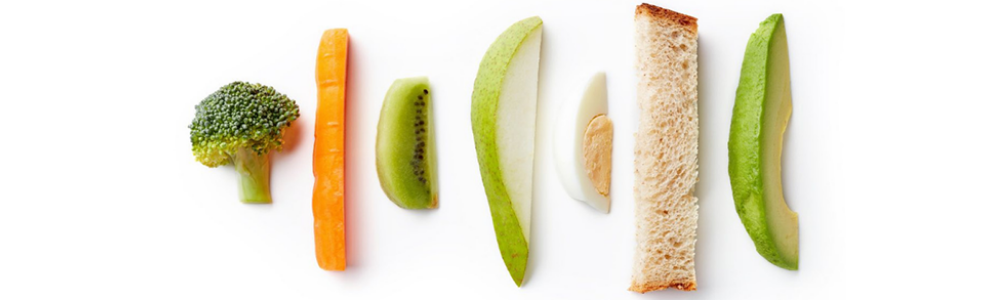 various food cut into finger shapes