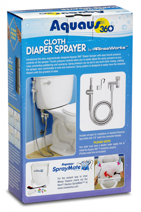 Aquaus 360 Diaper Sprayer Package backside