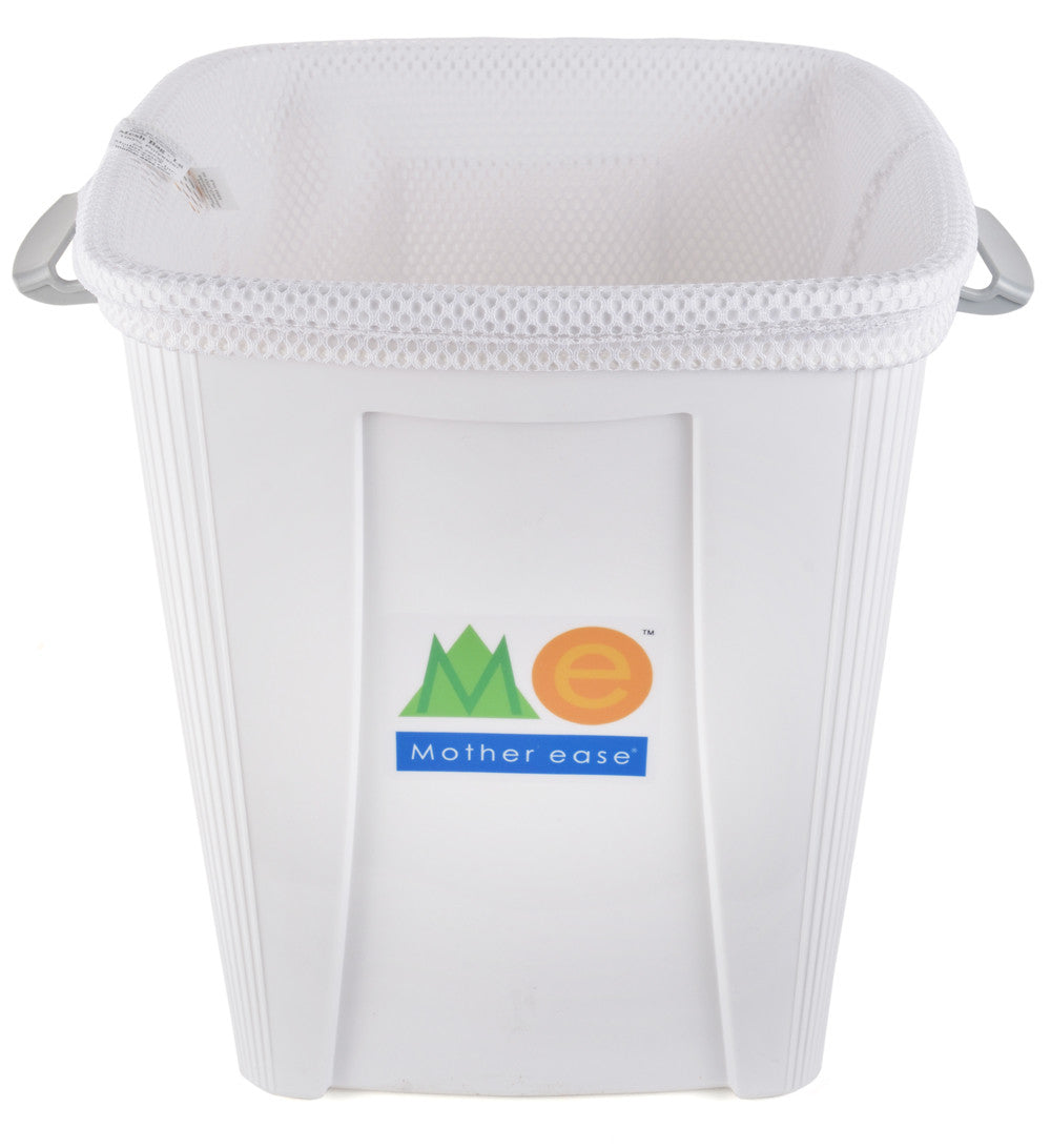 White Diaper Pail Mesh Liner Bag inside Pail