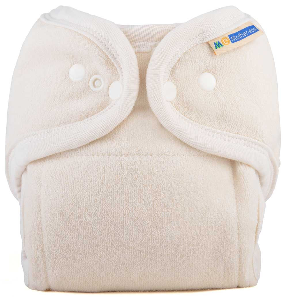 One Size Fitted Cloth Diaper - Unbleached Cotton