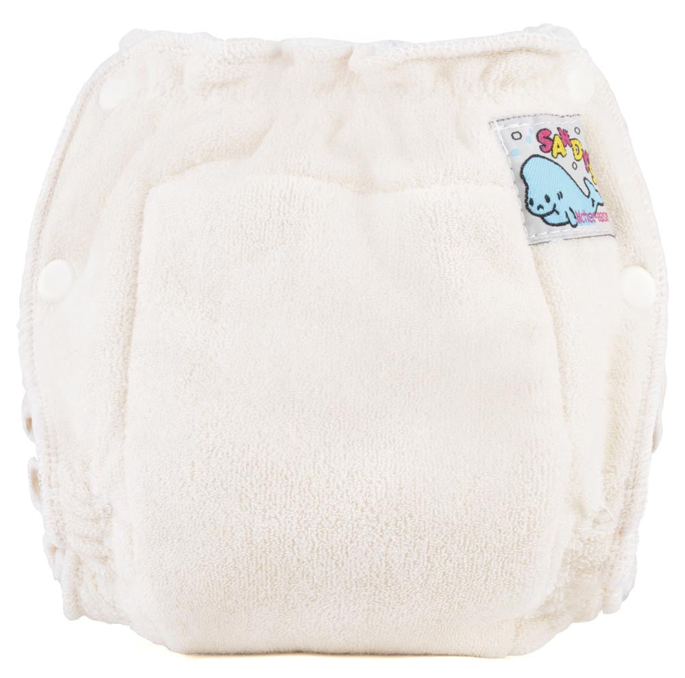 Sandy's Fitted Diapers - Unbleached Cotton