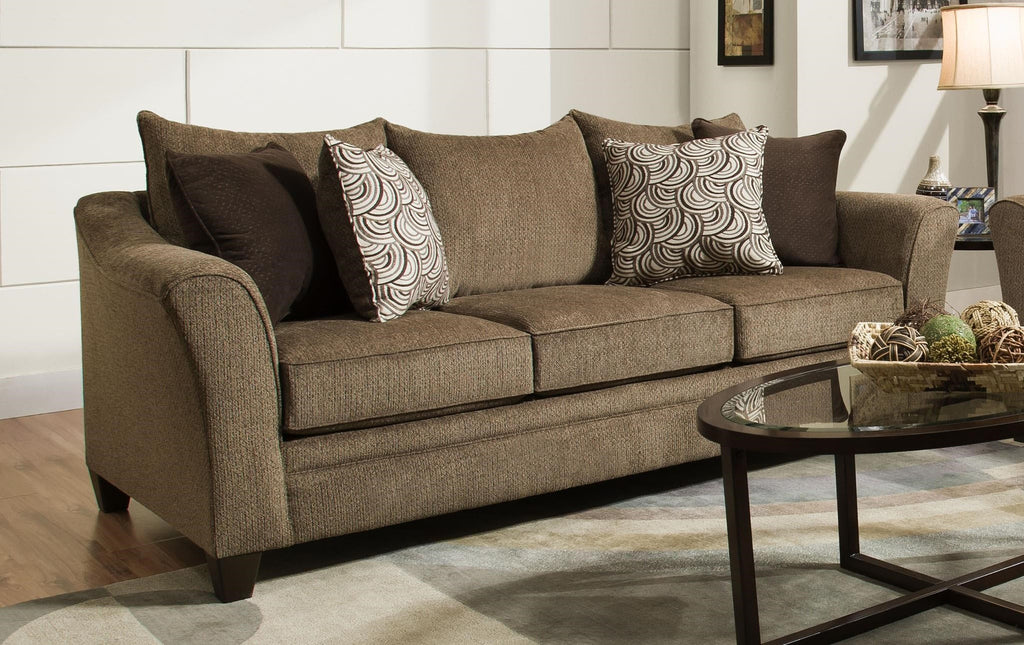 Captivating 6485 Beautyrest Sofa And Loveseat In Chestnut