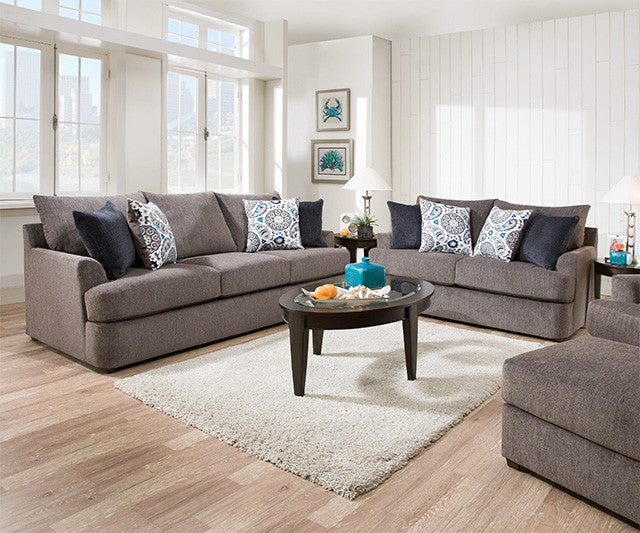 8540 Beautyrest Sofa And Love In Grandstand Flannel