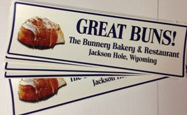 "Bumper Sticker ""Great Buns"""