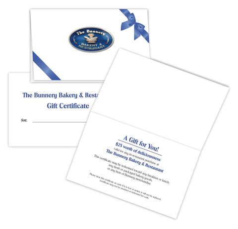 Bunnery $25 Gift Certificate