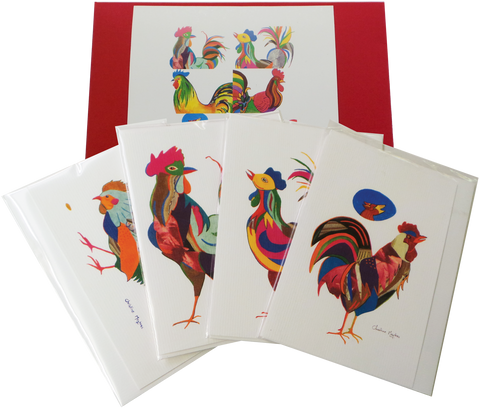 Rooster Card Gift (set of 8)