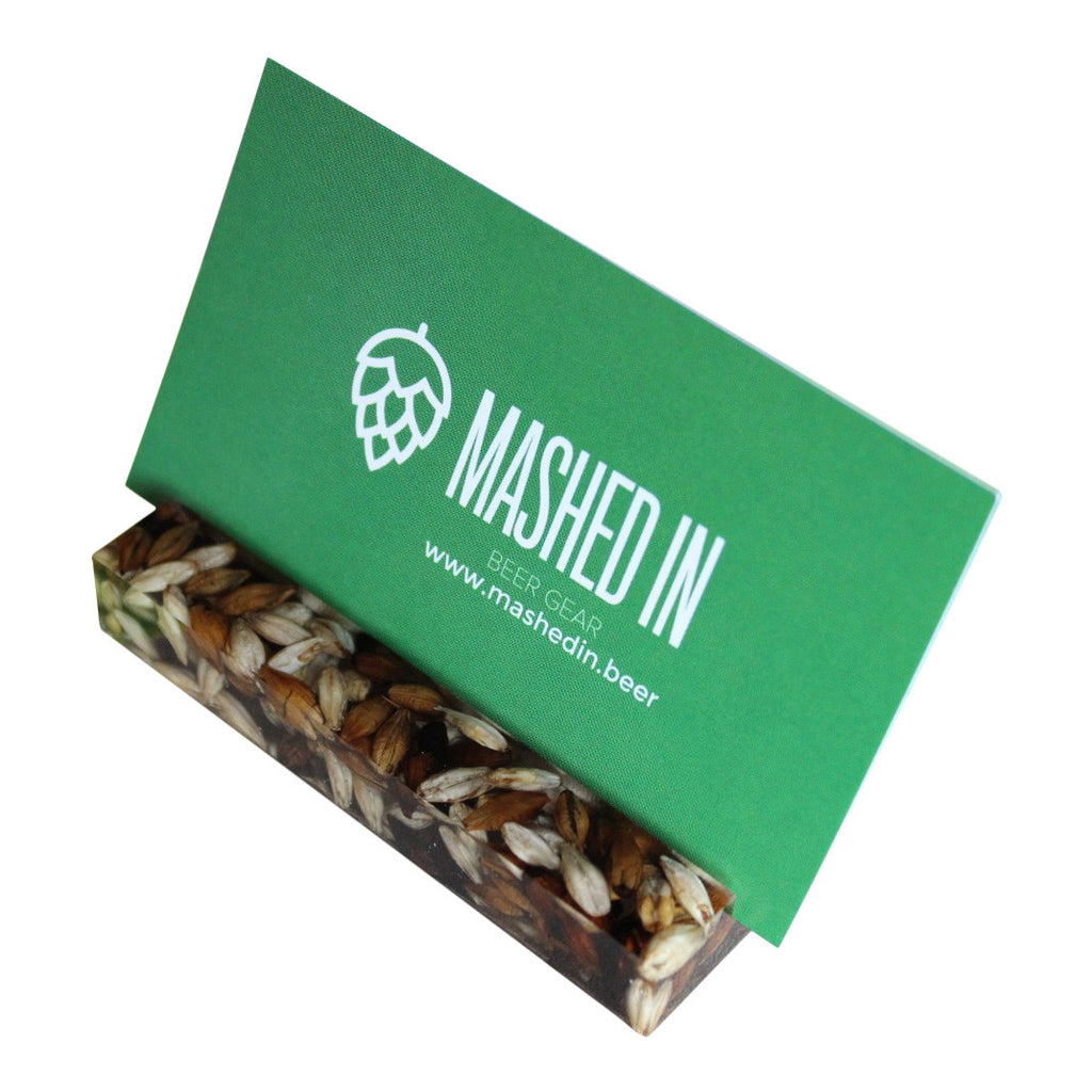 Modern Business Card Holder - Malt: Mashed In Beer Gear