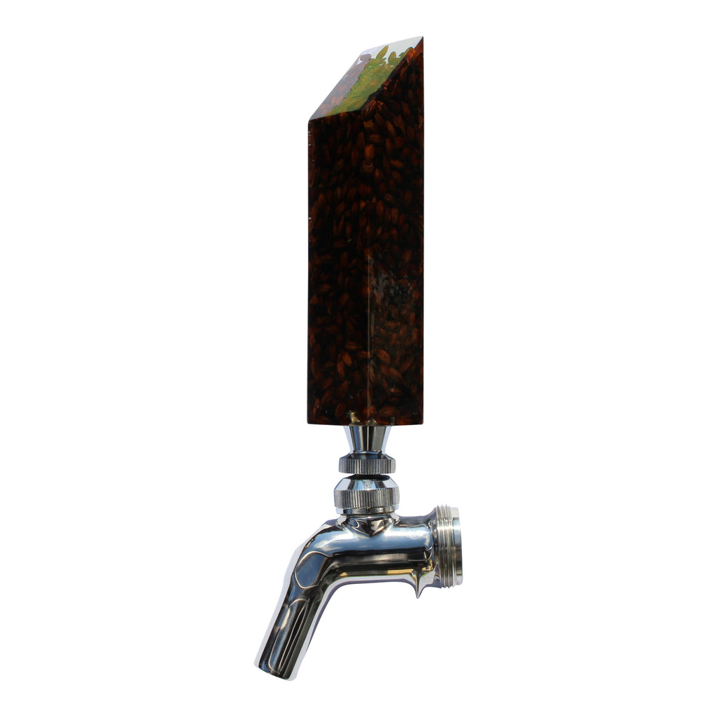 """Drink the Rainbow"" Tap Handle - Dark: Mashed In Beer Gear"