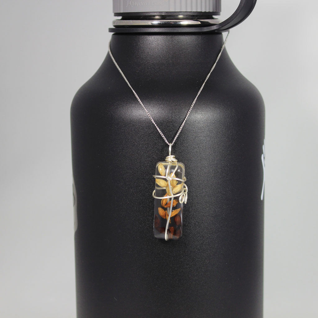 Beer Ingredient Necklace - Malt Pendant