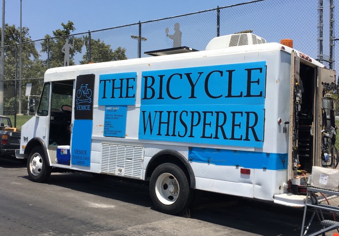 The Bicycle Whisperer van in Southern California.