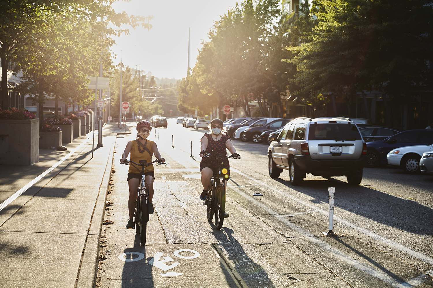 Two women commute on 2021's best electric bikes from Rad Power Bikes