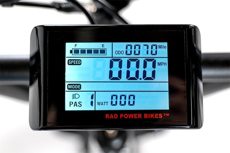 cargo ebike LCD display