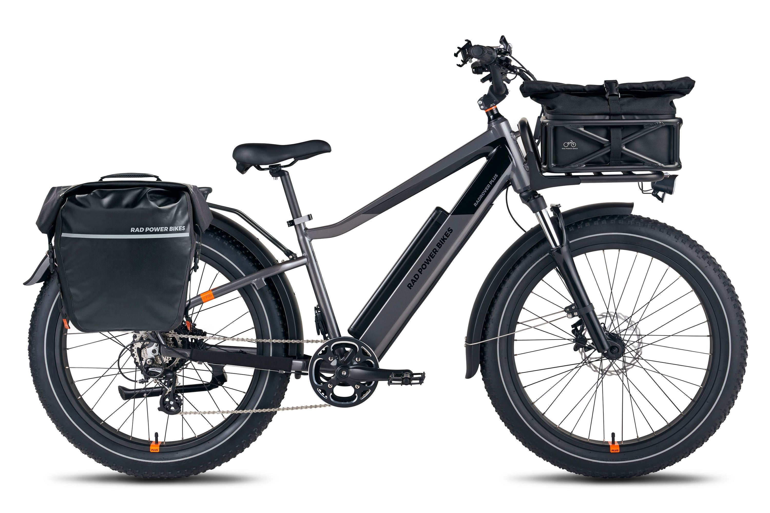 RadRover 6 electric fat bike with accessories