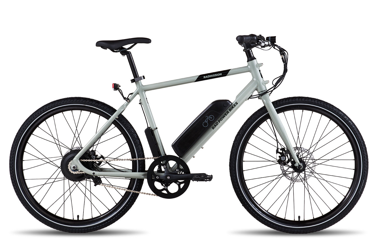 RadMission 1 Electric Metro Bike - Gray, High-Step