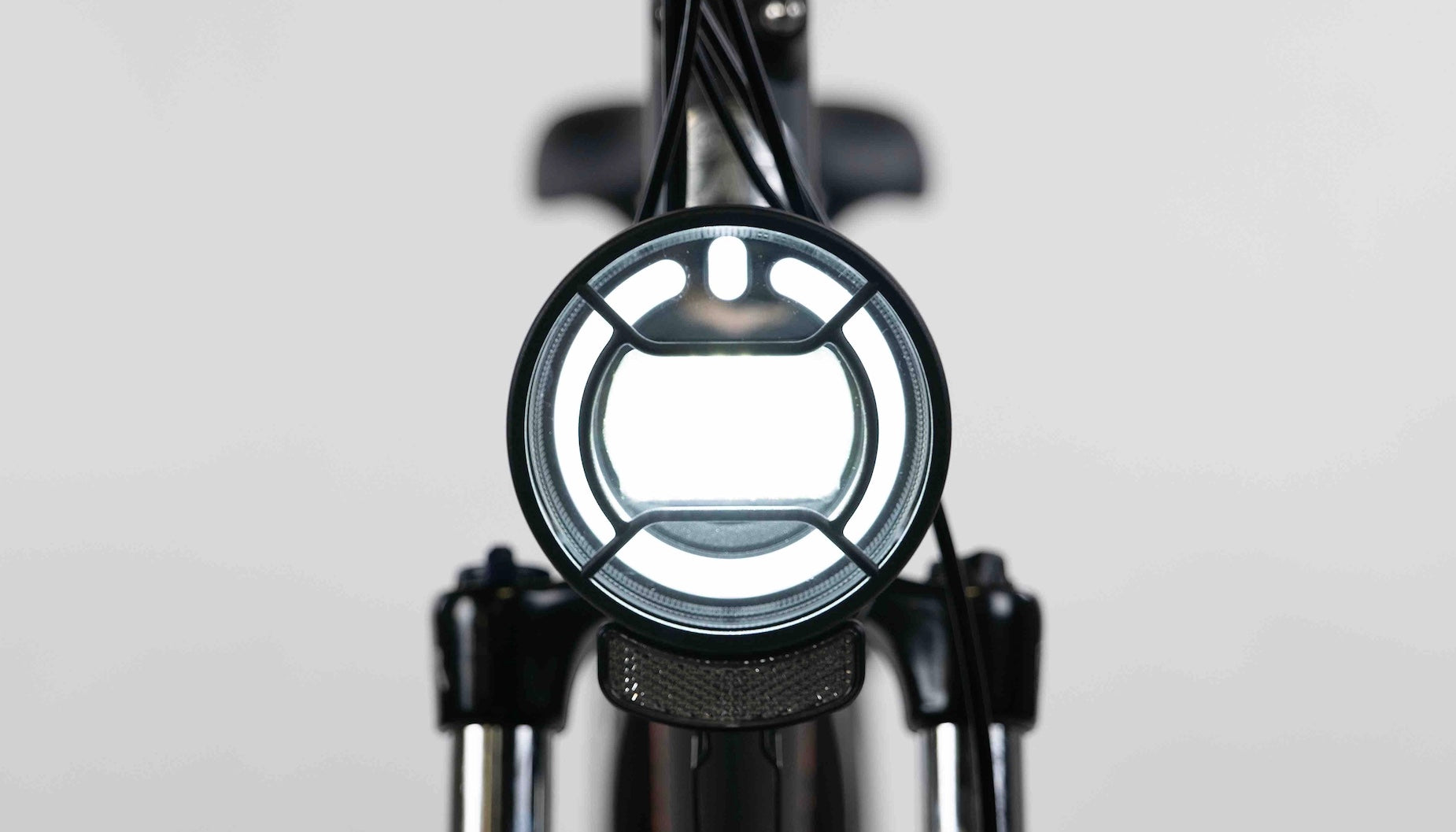 A close-up of the RadRunner Plus premium LED halo headlight.