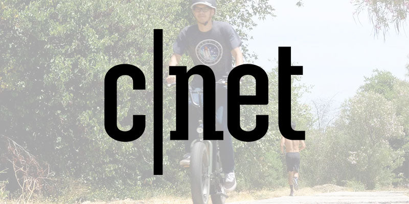 CNET logo over person riding RadRunner