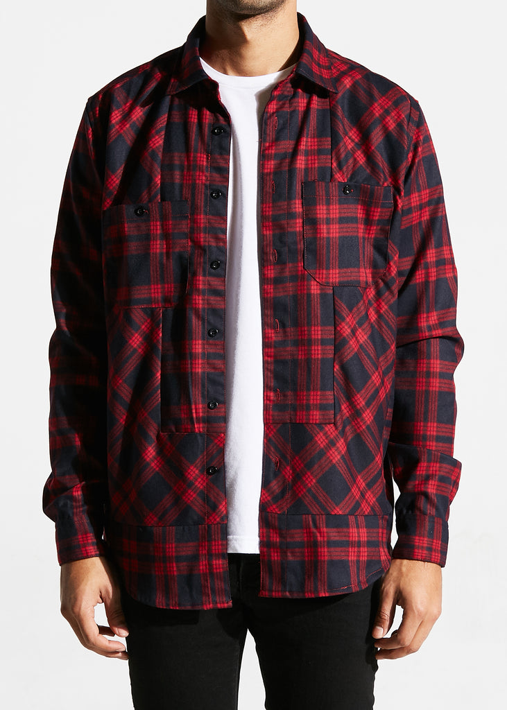 Morrison Button Up (Red)