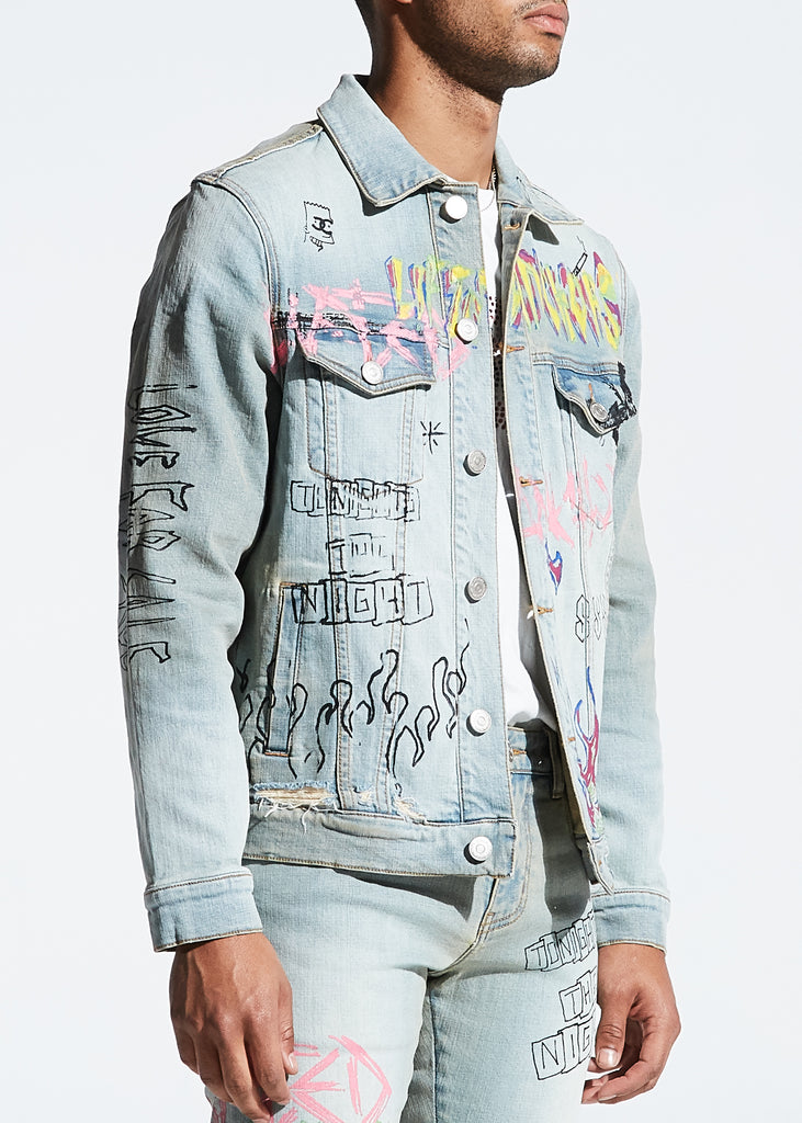 Clarke Denim Jacket (Blue)