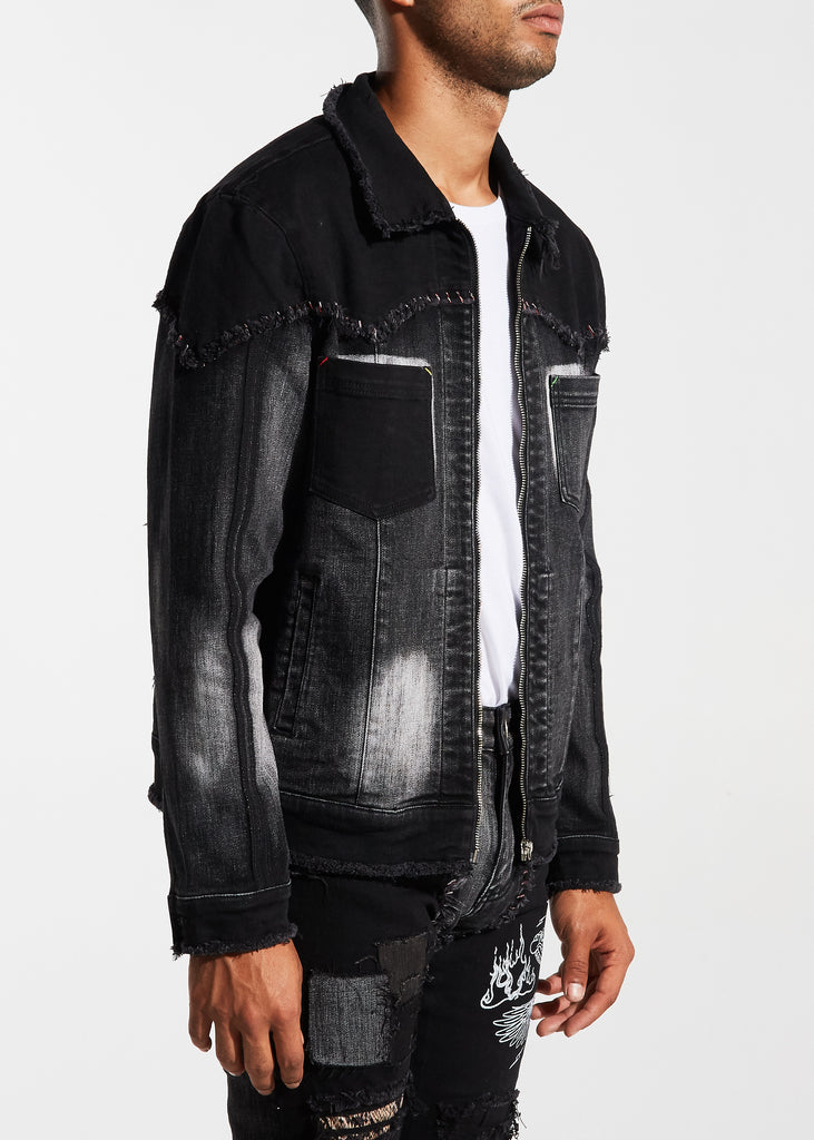 Carraba Trucker Jacket (Black)
