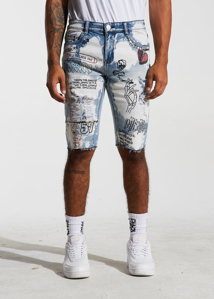Barker Denim Shorts (Blue)