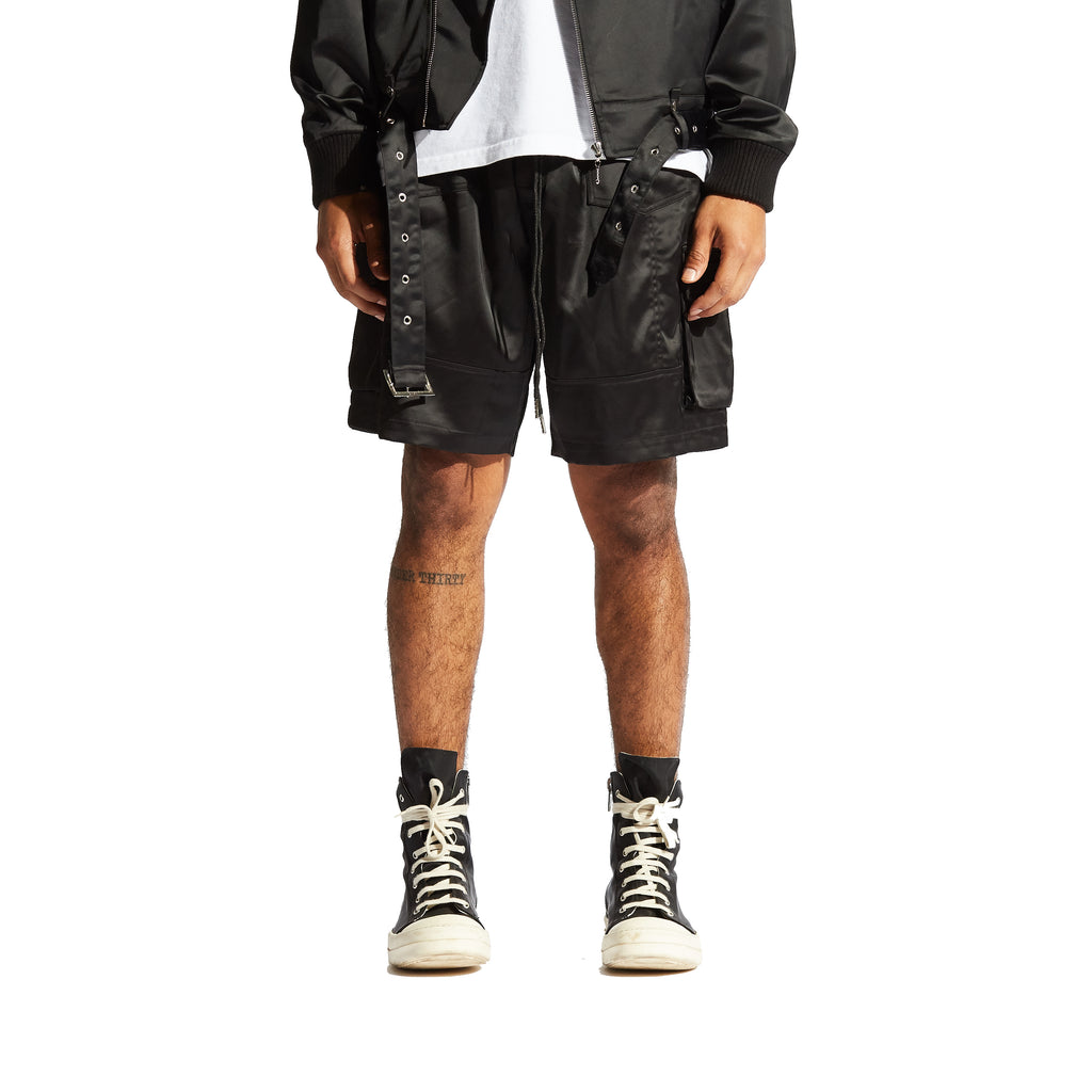 Digital Satin Cargo Shorts
