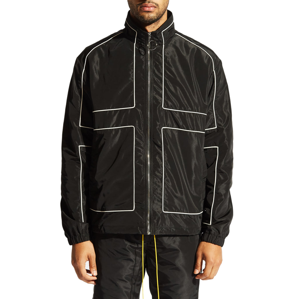 Vector Windbreaker Jacket (Black)