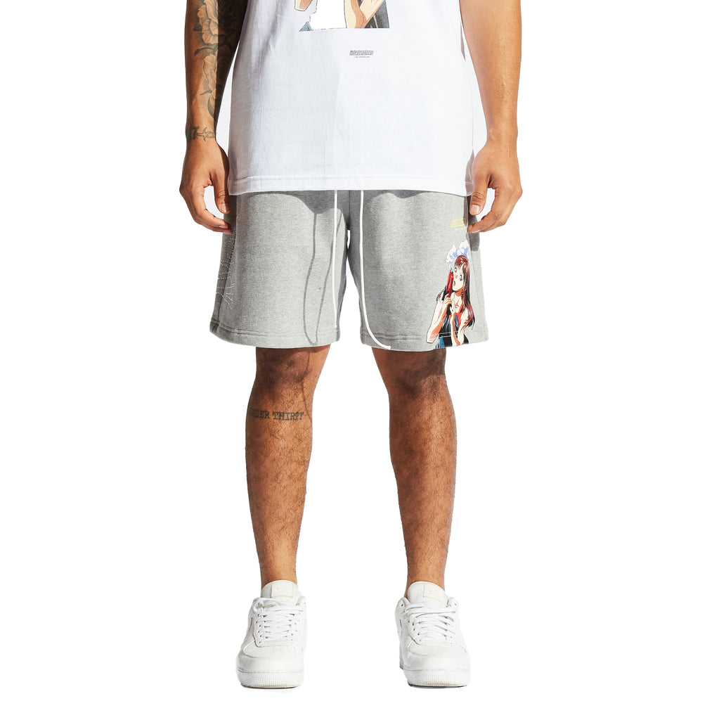 Malware Sweat Shorts (Grey)