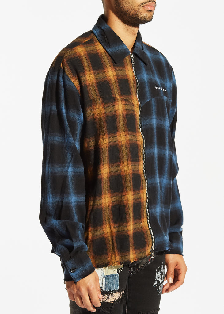 Chapman Flannel (Blue/Orange)
