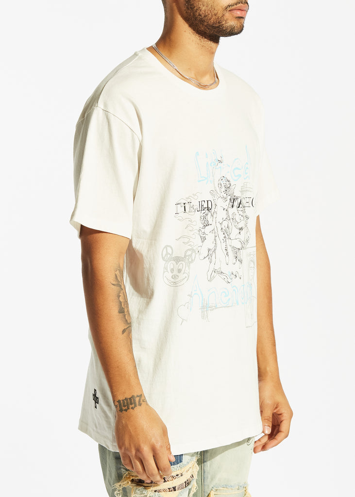 Sketch Book Tee (White)