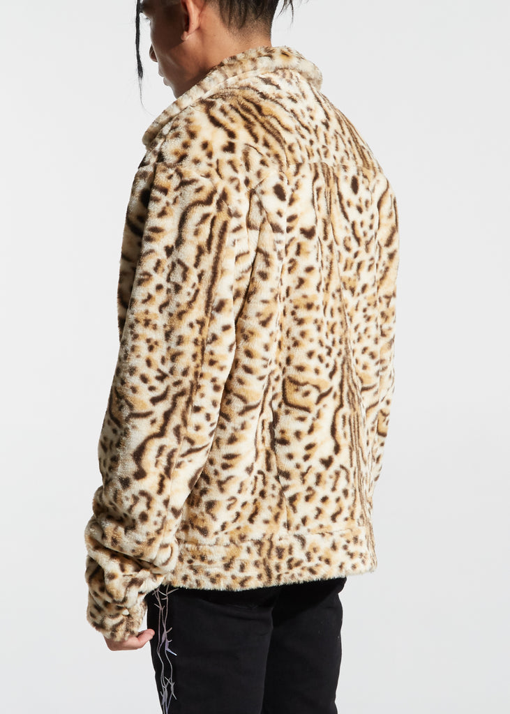 Rapture Leopard Overcoat (Light Brown)