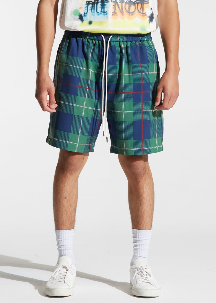 Ocean Shorts Plaid (Green)