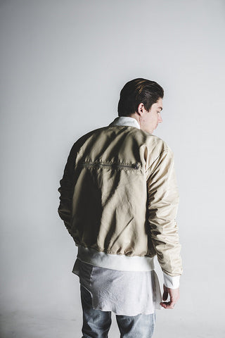 Bird Bomber (Tan Satin)