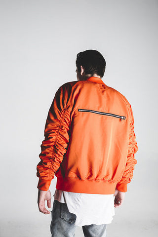 Bird Bomber (Orange Satin)