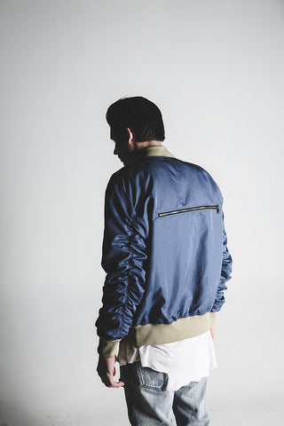 Bird Bomber (Blue Satin)