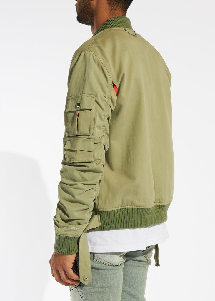 Bellamy Bomber Jacket (Olive)