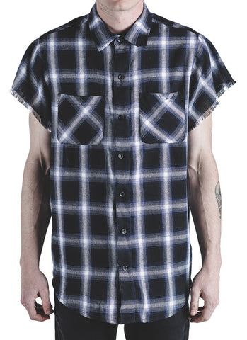 Billups Plaid Button Up (Blue)
