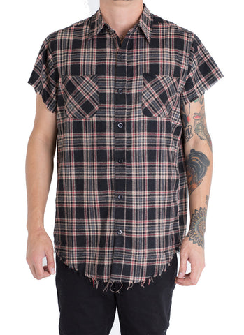 Billups 4 Plaid Button Up (Black)