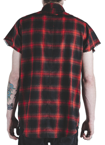 Billups Plaid Button Up (Red)