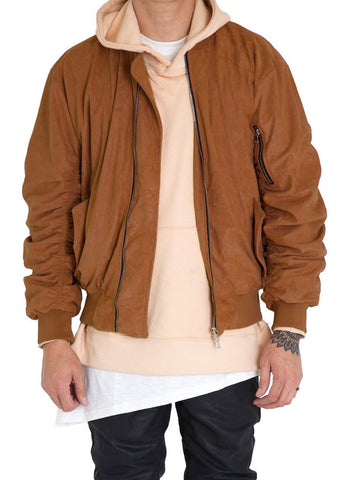 Bird Bomber (Burnt Orange Suede)