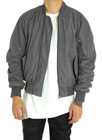 Bird Bomber (Charcoal Suede)