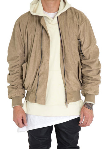 Bird Bomber (Tan Suede)