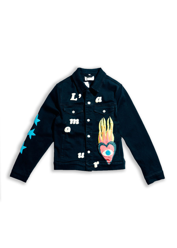 Hopkins Denim Jacket (Black)