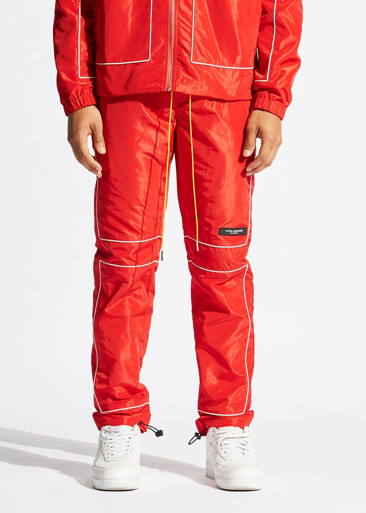 Vector Windbreaker Pants (Red)