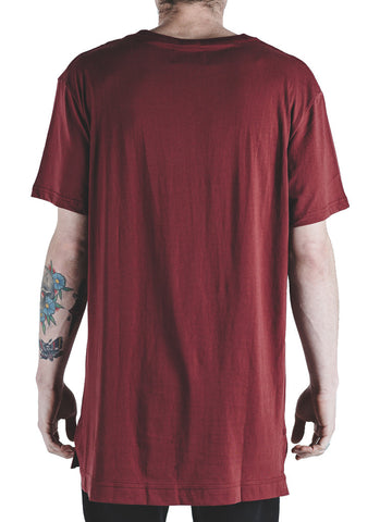 Davis Power Wash Tee (Burgundy)
